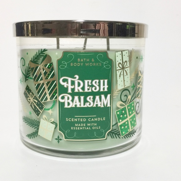 Bath & Body Works Other - FRESH BALSAM 3 Wick Candle